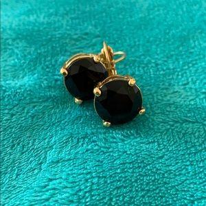 Kate Spade black stud drop earrings